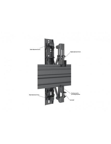 """Multibrackets 5051 fäste för skyltningsskärm 139.7 cm (55"""") Svart Multibrackets 7350073735051 - 9"""