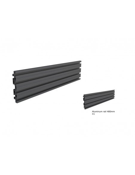 Multibrackets M Pro Series - Single Screen Rail 48cm Black Multibrackets 7350073735082 - 2