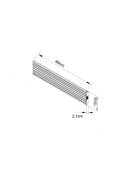 Multibrackets M Pro Series - Single Screen Rail 48cm Silver Multibrackets 7350073735099 - 3