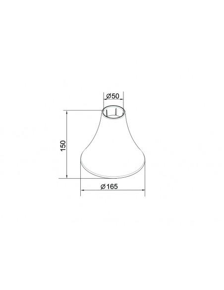 Multibrackets M Pro Series - Inner Ceiling Plate Cover Black Multibrackets 7350073736270 - 2