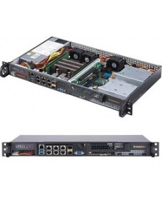 Supermicro SuperServer 5019D-FN8TP Teline ( 1U ) Musta Supermicro SYS-5019D-FN8TP - 1