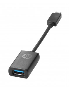 HP USB-C to USB 3.0 Adapter Black Hp N2Z63AA#AC3 - 1