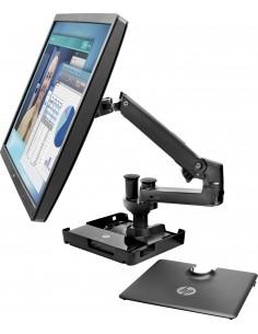 """HP Hot Desk Stand Kannettavan tietokoneen teline Musta 81.3 cm (32"""") Hp W3Z73AA - 1"""