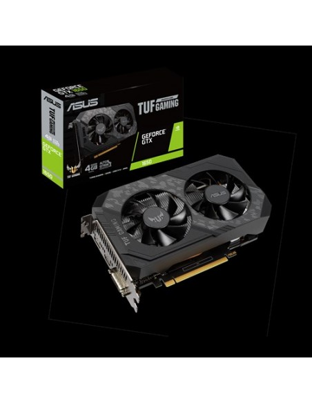 ASUS TUF Gaming TUF-GTX1650-4GD6-GAMING NVIDIA GeForce GTX 1650 4 GB GDDR6 Asus 90YV0EH1-M0NA00 - 9