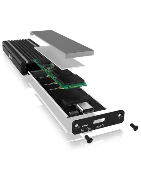 ICY BOX IB-1824ML-C31 SSD-kotelo Musta M.2 Raidsonic 60717 - 5