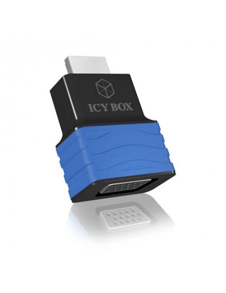 ICY BOX HDMI - VGA, M/F Svart, Blå Raidsonic 70544 - 3