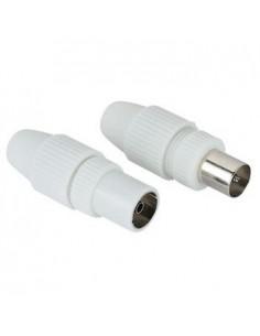 Hama Antenna Male Plug / Female Jack, Coaxial, Clamp Type koaksiaaliliitin Hama 44146 - 1