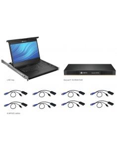 Vertiv Avocent LCD Local Rack Access Console, 8P KVM, 8 CABLES, USB KB-UK ENG Vertiv LRA185KMM8D-201 - 1