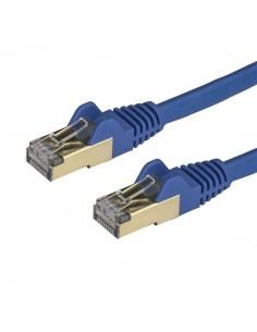 StarTech.com 0.50m CAT6a Ethernet Cable - 10 Gigabit Shielded Snagless RJ45 100W PoE Patch Cord 10GbE STP Network w/Strain Start