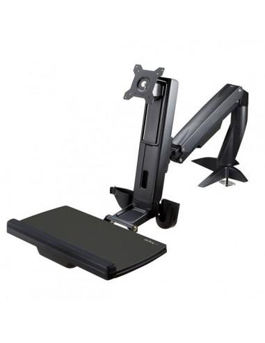 "StarTech.com Sit Stand Monitor Arm - Desk Mount Adjustable Sit-Stand Workstation for Single 34"" VESA Display Ergonomic Startech"
