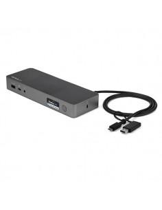 StarTech.com USB-C & USB-A Dock - Hybrid Universal Laptop Docking Station with 100W Power Delivery Dual Monitor 4K 60Hz HDMI Sta