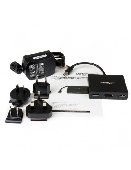 StarTech.com MSTMDP123DP videohaaroitin Mini DisplayPort 3x Startech MSTMDP123DP - 10
