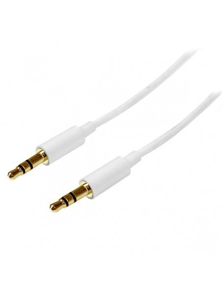 StarTech.com MU1MMMSWH audiokaapeli 1 m 3.5mm Valkoinen Startech MU1MMMSWH - 1