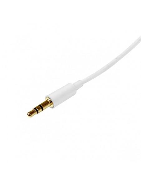 StarTech.com 2m White Slim 3.5mm Stereo - Male to Startech MU2MMMSWH - 2