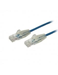 StarTech.com 3 m CAT6-kabel - Tunn Ej hakfria RJ45-kontakter Blå Startech N6PAT300CMBLS - 1
