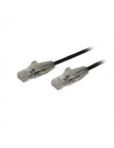 StarTech.com 0.5 m CAT6-kabel - Tunn Ej hakfria RJ45-kontakter Svart Startech N6PAT50CMBKS - 1