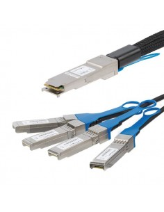 StarTech.com MSA Uncoded Compatible 3m 40G QSFP+ to 4x SFP+ Direct Attach Breakout Cable Twinax - 40GbE Copper DAC 40 Gbps Low S