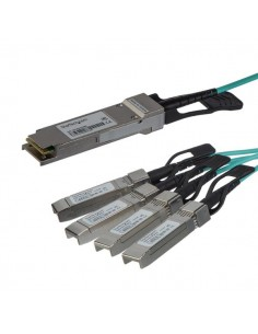 StarTech.com AOC Breakout Cable for Cisco QSFP-4X10G-AOC3M - 3m/9.84ft 40G 1x QSFP+ to 4x SFP+ 40GbE Active Optical Fiber Starte