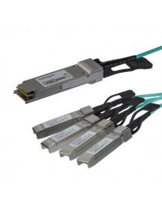 StarTech.com QSFP4X10GAO5 valokuitukaapeli 5 m QSFP+ 4x SFP+ Musta Startech QSFP4X10GAO5 - 1