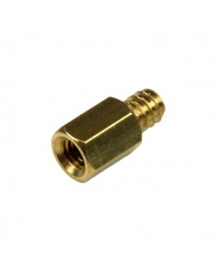 StarTech.com Replacement PC Mounting #6-32 to M3 Metal Jack Screw Standoff 50 Pack Startech SCREWNUTM - 1