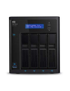 Western Digital My Cloud EX4100 NAS Desktop Ethernet LAN Black Armada 388 Western Digital WDBWZE0000NBK-EESN - 1