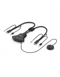 Belkin F1DN102FLP-DP-3 KVM switch Black Linksys F1DN102FLP-DP-3 - 1
