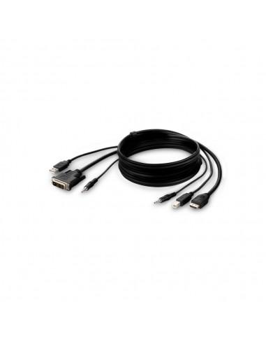Belkin F1DN1CCBL-DH-10 KVM cable Black 3 m Linksys F1DN1CCBL-DH-10 - 1