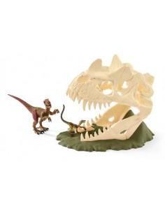 Schleich Prehistoric Animals Large skull trap with Velociraptor Schleich 42348 - 1