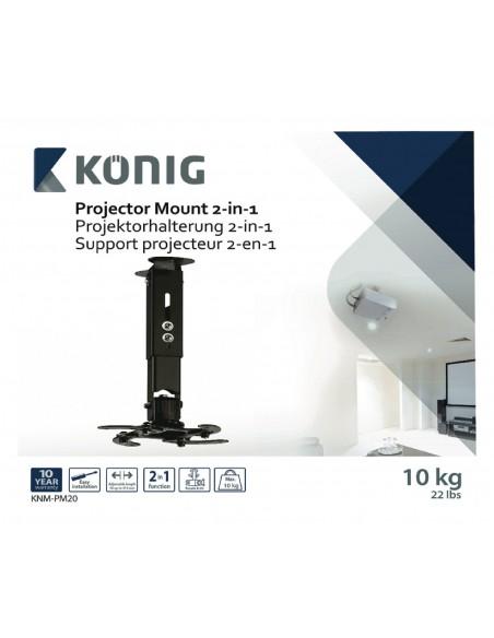 König KNM-PM20 projektorfästen Innertak/vägg Svart König KNM-PM20 - 10