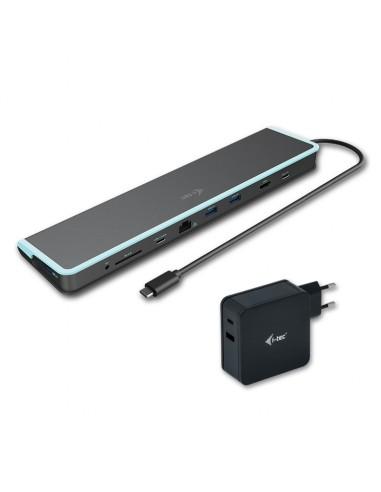 i-tec C31FLATV260W kannettavien tietokoneiden telakka ja porttitoistin Langallinen USB 3.2 Gen 1 (3.1 1) Type-C Musta, Sininen I
