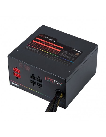 Chieftec Photon virtalähdeyksikkö 650 W 24-pin ATX PS/2 Musta Chieftec CTG-650C-RGB - 4