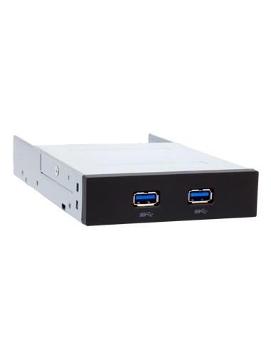 """Chieftec MUB-3002 asemapaikkaan asennettava paneeli 8.89 cm (3.5"""") Liitinpaneeli Musta, Hopea Chieftec MUB-3002 - 1"""