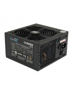 LC-Power LC6650 V2.3 virtalähdeyksikkö 650 W 20+4 pin ATX Musta Lc Power LC6650 V2.3 - 1