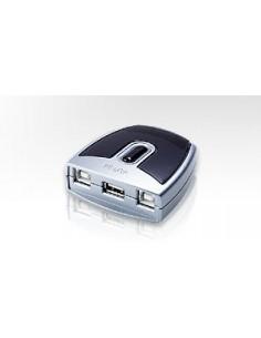Aten 2-Port USB 2.0 Peripheral Switch 480 Mbit/s Black, Silver Aten US221 - 1