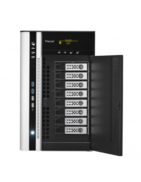 Thecus N8850 NAS- ja tallennuspalvelimet i3-2120 Tower Musta Thecus N8850 - 3