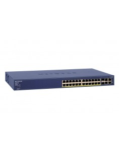 Netgear FS728TP-100EUS nätverksswitchar hanterad Fast Ethernet (10/100) Strömförsörjning via (PoE) stöd Blå Netgear FS728TP-100E
