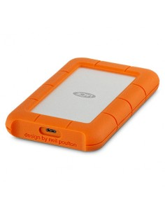 LaCie Rugged USB-C ulkoinen kovalevy 4000 GB Oranssi, Hopea Lacie STFR4000800 - 1