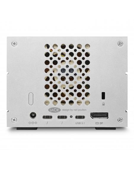 LaCie 2big Dock Thunderbolt 3 16TB levyjärjestelmä Työpöytä Hopea Lacie STGB16000400 - 3