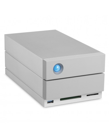 LaCie 2big Dock Thunderbolt 3 levyjärjestelmä 8 TB Työpöytä Harmaa Lacie STGB8000400 - 1