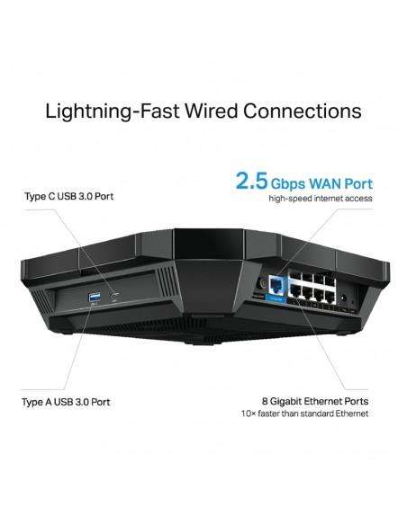 TP-LINK AX6000 langaton reititin Kaksitaajuus (2,4 GHz/5 GHz) Gigabitti Ethernet Musta Tp-link ARCHER AX6000 - 3