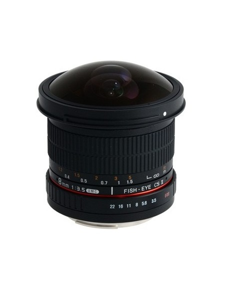 Samyang 8mm f/3.5 Asph IF MC Fisheye CSII DH SLR Laajakalansilmäobjektiivi Musta Samyang 21506 - 1