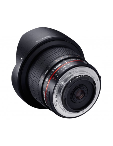 Samyang 8mm F3.5 UMC Fish-Eye CS II SLR Laajakulmaobjektiivi Musta Samyang 21507 - 2