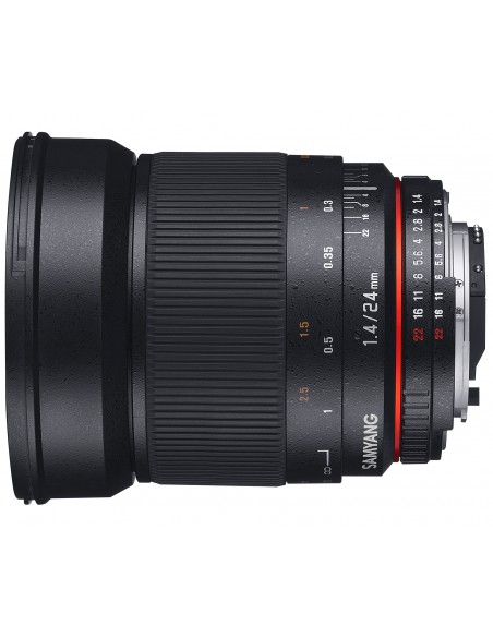 Samyang 24mm F1.4 ED AS IF UMC, Nikon AE SLR Laajakulmaobjektiivi Musta Samyang 21514 - 2