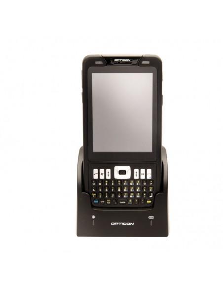 """Opticon H-22 2D mobiilitietokone 9.4 cm (3.7"""") 480 x 640 pikseliä Kosketusnäyttö Musta Opticon 12757 - 2"""