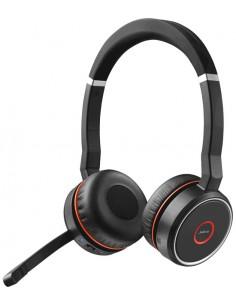 Jabra Evolve 75 UC Stereo Kuulokkeet Pääpanta Musta, Punainen Gn Netcom 7599-838-109 - 1