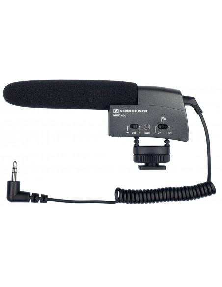Sennheiser MKE 400 Digital camcorder microphone Musta Sennheiser 502047 - 1