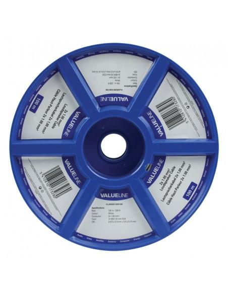 Valueline 2x1.00mm² 100m audiokaapeli Valkoinen Valueline VLAR26510W100 - 2