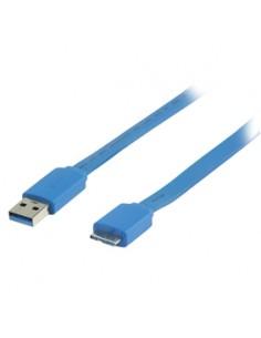 Valueline 2m, USB 3.0 A - Micro B USB-kaapeli 3.2 Gen 1 (3.1 1) Micro-USB Sininen Valueline VLMP61210L2.00 - 1