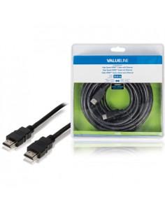 Valueline VLVB34000B100 HDMI-kaapeli 10 m HDMI-tyyppi A (vakio) Musta Valueline VLVB34000B100 - 1