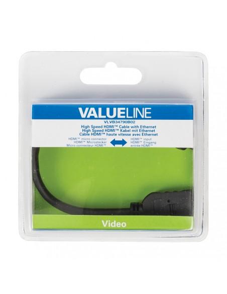 Valueline VLVB34790B02 kaapeli liitäntä / adapteri Micro HDMI Musta Valueline VLVB34790B02 - 4